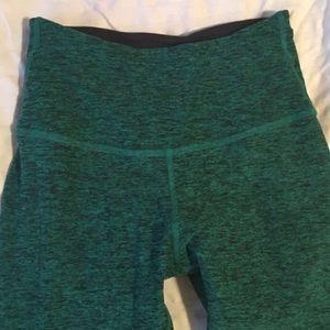 Beyond Yoga Pants - Beyond Yoga Space Dye Green Pants Small